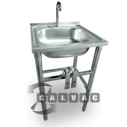 Lavamanos acero inoxidable lavamanos acci n rodilla acero inoxidable de calvac lavamanos www - Lavabo portatil ...